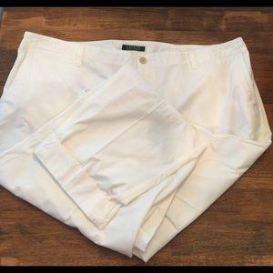 (2049) Ralph Lauren (Lauren) white pants. Sz 18W